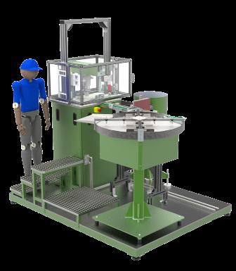 Máquina para ensamblaje de componentes de automoción